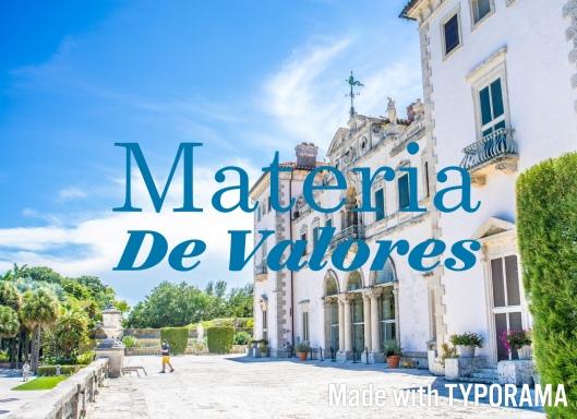 Materia de Valores